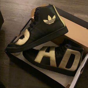 Jeremy Scott ADIDAS Black w/ Gold Letters